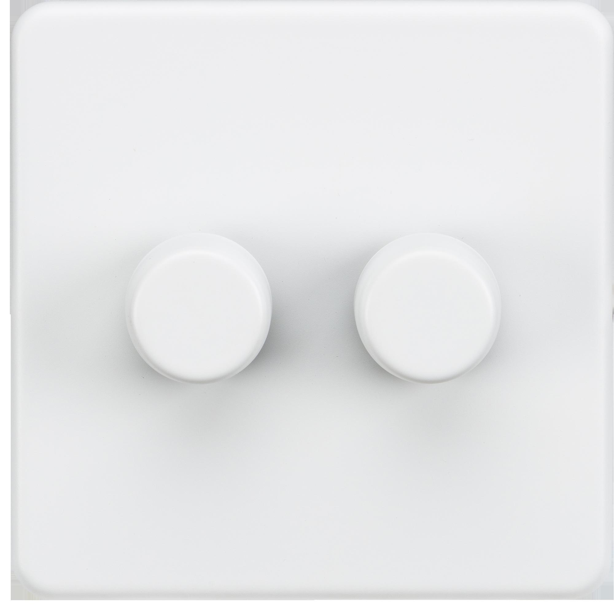 Screwless 2g 2 Way 40 400w Dimmer Switch Matt White Direct With